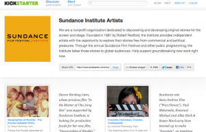 Sundance Curated Page