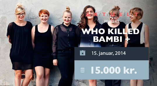 WHO KILLED BAMBI - crowdfunding - booomerang